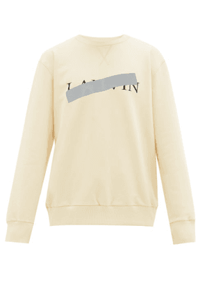 Lanvin - Hidden Logo Print Cotton Sweatshirt - Mens - White