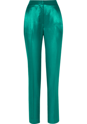 Carolina Herrera - Satin-twill Straight-leg Pants - Jade