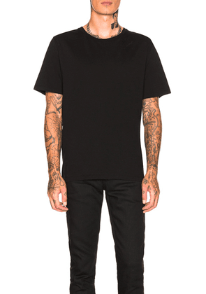 Saint Laurent Embroidered Script Tee in Black - Black. Size M (also in ).