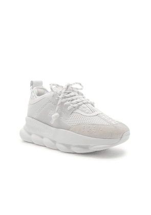 VERSACE Chain Reaction Sneakers in White - White. Size 43 (also in ).