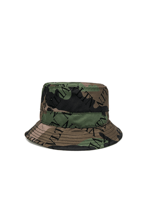 Valentino Bucket Hat in Army Green - Camo,Green. Size L (also in ).