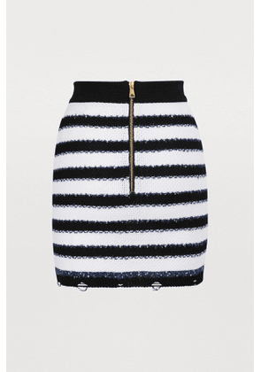 Short stripy skirt