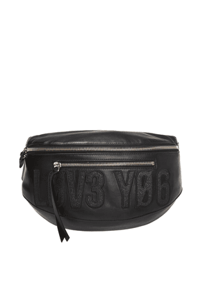 Red Valentino Glitter-embroidered belt bag