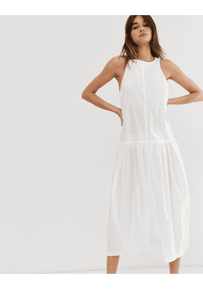 Weekday limited edition poplin dress in white