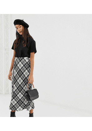 New Look midi skirt in check