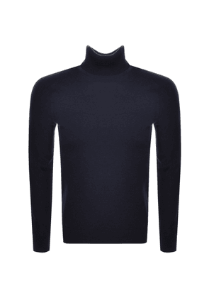 BOSS Casual Kamerlos Roll Neck Jumper Navy