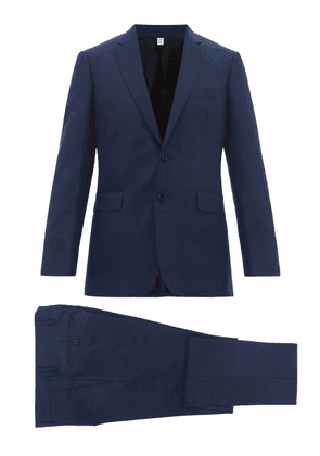 Burberry - Tailored Slim Fit Two Piece Wool Blend Suit - Mens - Navy