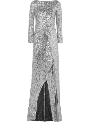 Roland Mouret - Sequined Tulle Gown - Silver