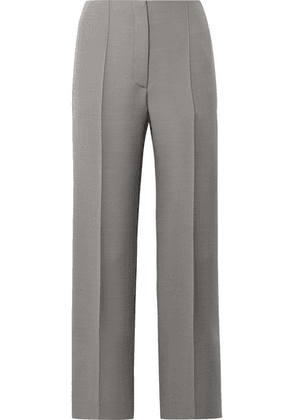 The Row - Max Wool And Silk-blend Straight-leg Pants - Gray