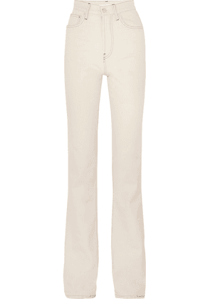 Helmut Lang - High-rise Bootcut Jeans - Off-white