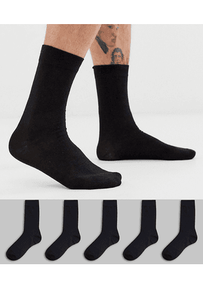 Brave Soul 5 pack socks in black
