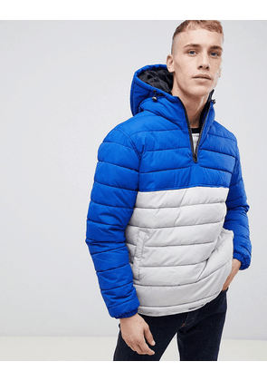New Look colour block puffer jacket in silver