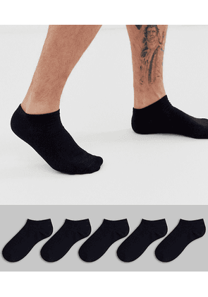 Brave Soul trainer socks 5 pack in black