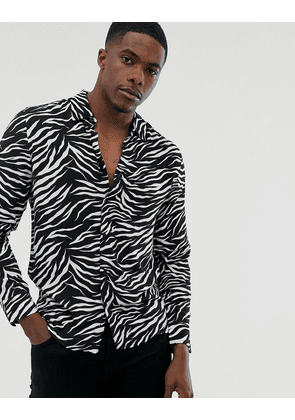 Brave Soul zebra long sleeve shirt