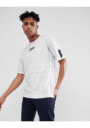 Jack & Jones Core Longline T-Shirt With Graphic And Stitch Detail