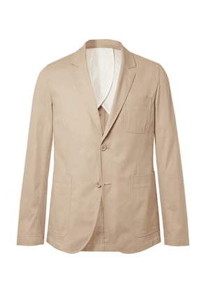 AMI - Beige Slim-fit Cotton-twill Suit Jacket - Beige