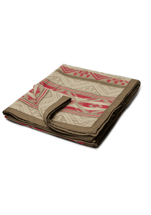 RRL - Cotton And Wool-blend Jacquard Blanket - Brown