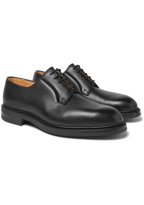 George Cleverley - Archie Full-grain Leather Derby Shoes - Black