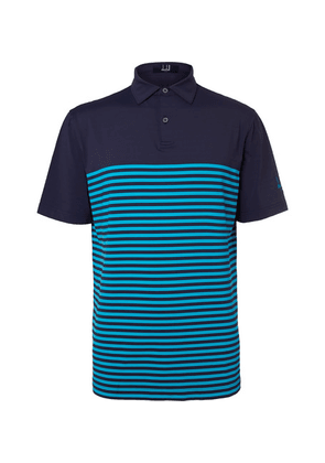 Dunhill Links - Lewes  Striped Stretch-jersey Golf Polo Shirt - Navy