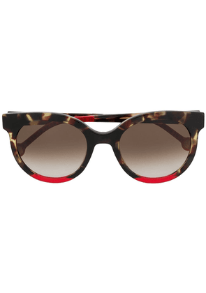 Ch Carolina Herrera round shaped sunglasses - Red