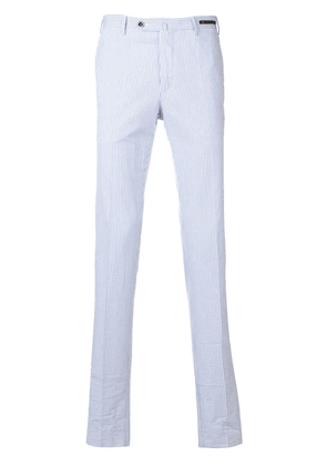 Pt01 classic striped chinos - Blue