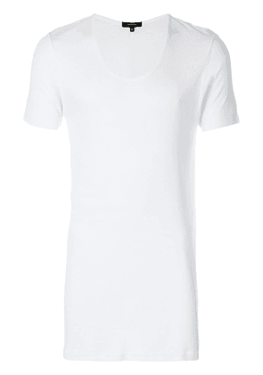 UNCONDITIONAL ribbed scoop T-shirt - White