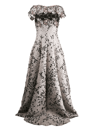 Talbot Runhof Toivo evening dress - Grey