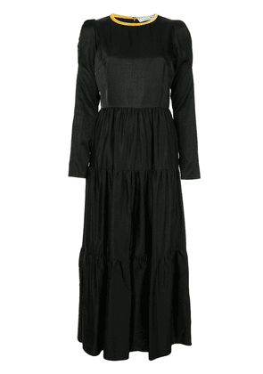 Tu es mon TRÉSOR Tiered mixi dress - Black