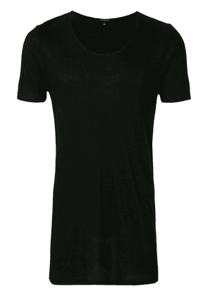 UNCONDITIONAL ribbed scoop neck T-shirt - Black