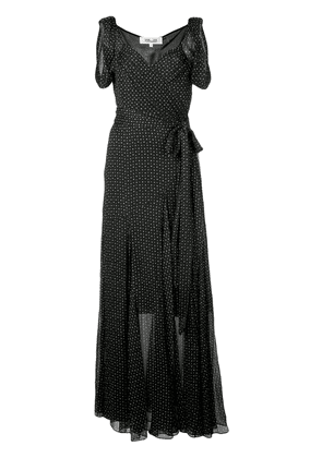 Diane von Furstenberg Belinda crinkled wrap dress - Black