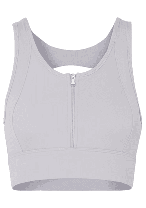 Varley - Fay Cutout Stretch Sports Bra - Light gray