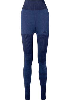 Nike - City Ready Stretch Jacquard-knit Leggings - Blue
