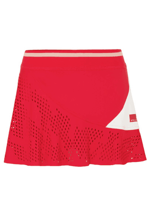 adidas by Stella McCartney - Perforated Stretch Tennis Skirt - Red