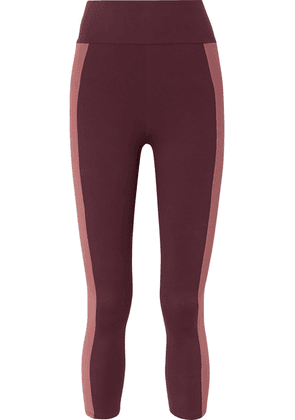 Ernest Leoty - Therese Two-tone Stretch Leggings - Purple