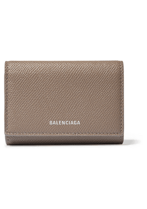 Balenciaga - Ville Printed Textured-leather Cardholder - Brown