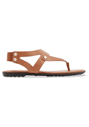 Tod's - Leather Slingback Sandals - Tan