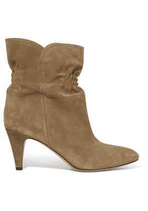 Isabel Marant - Dedie Suede Ankle Boots - Taupe