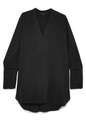 Joseph - Eamon Oversized Washed-silk Blouse - Black