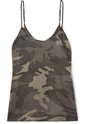ATM Anthony Thomas Melillo - Camouflage-print Silk-satin Camisole - Army green