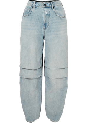 Alexander Wang - Pack Mix Paneled Denim And Shell Pants - Light denim