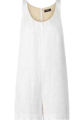 Theory - Organic Linen-blend Playsuit - White