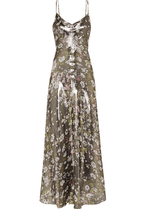 GANNI - Floral-print Metallic Silk-blend Maxi Dress - DK36