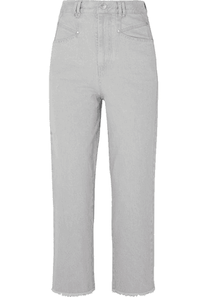 Isabel Marant - Daliska Cropped High-rise Straight-leg Jeans - Light gray