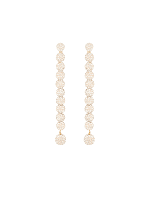 Caterpillar crystal-embellished earrings