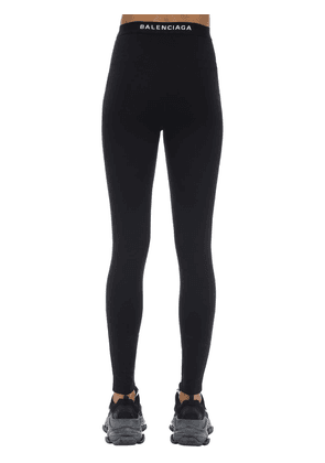 Logo Intarsia Tech Jersey Leggings