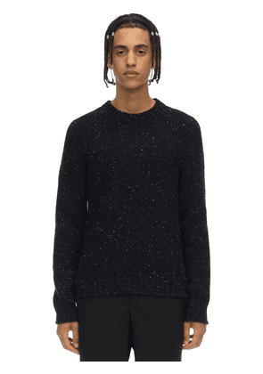 Mélange Wool Blend Knit Sweater
