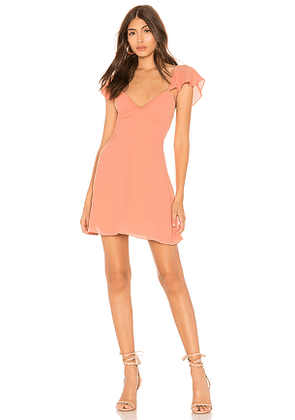 by the way. Noleen Chiffon Dress in Peach. Size XS.