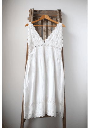 Vogue Off-White Broderie Anglaise Dress