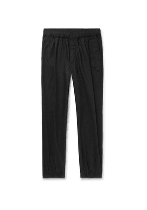 McQ Alexander McQueen - Tapered Pleated Cotton-poplin Trousers - Black