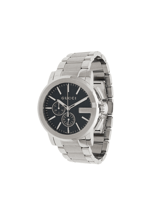 Gucci metallic G-Chrono stainless steel watch - Silver